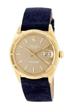 Vintage Rolex Men's/Unisex  Date 14K Yellow Gold Watch by Donald E. Gruenberg Inc.
