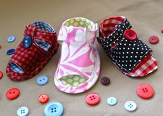 This video tutorial demonstrates how to sew baby Tiptoe Sandals using a pattern you can purchase from my Etsy shop. No need to wait for snail mail– I'll send it to your email inbox!