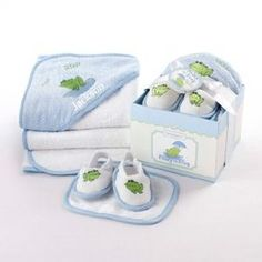 Finley the Frog Four-Piece Hat Box Bath Time Gift Set $34.99