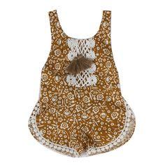 a646f2dcf8787 Baby Girl Brown Romper. ベビーロンパースかわいいロンパース女の子の赤ちゃんボーイズ