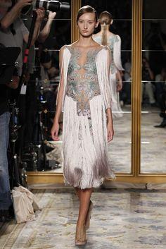 Marchesa fringe dress