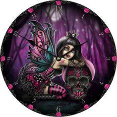 Lolita Gothic Clock, Little Shadows by Jasmine Becket. Angel Outfit, Cool Clocks, Boot Shop, Jasmine, Shadows, Steampunk, Gothic, Fantasy, Anime