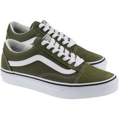Vans Trainers Womens Old Skool Winter Moss True White (235 PEN) ❤ liked on Polyvore featuring shoes, sneakers, vans, white trainers, white sneakers, white colour shoes, vans footwear and vans shoes