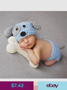 446da31b0ec Cartoon Designs Newborn Baby Photography Props Crochet Dog Shape Hat+Briefs Set  Costume Newborn Photo Props Outfits