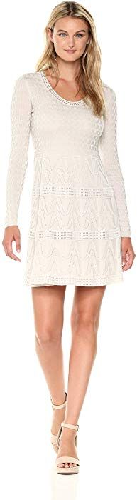 M Missoni Women's Solid Knit Scoop Dress, Sample Almond, EUR Clothing by Contemporary Dresses, Missoni, Almond, Knitting, Long Sleeve, Casual, Clothing, Sweaters, Design