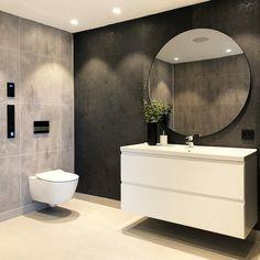 59 amazing bathroom design ideas for you to copy page 22 Bathroom Grey, Diy Bathroom, Modern Bathroom Decor, Bathroom Interior, Small Bathroom, Bathroom Lighting Inspiration, Berry Alloc, Vibeke Design, Ideas