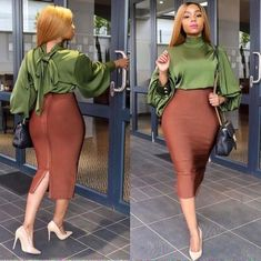 How To Look Classic Like Serwaa Amihere For Plus Size & Curvy Ladies 2019 – Outfits Classy Work Outfits, Office Outfits, Classy Dress, Chic Outfits, Fashion Outfits, Workwear Fashion, Fashion Blogs, Skirt Outfits, Fall Fashion