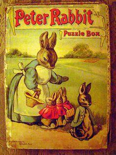 Peter Rabbit Puzzle Box by Milton Bradley,  circa 1913.