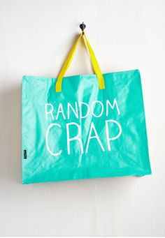 A monster tote that can hold all the random crap you need to carry around.