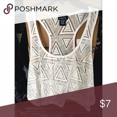 Cream White Crop Top Pair this flowy crop top with a bandeau for a perfect summer look! Tops Crop Tops