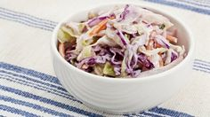 Weight Watchers Classic Coleslaw Recipe with fat free mayonnaise, cayenne pepper, garlic powder, and celery seeds. A quick and easy side dish. 2 WW Freestyle Points and 2 Smart Points Skinny Recipes, Ww Recipes, Low Calorie Recipes, Side Dish Recipes, Great Recipes, Cooking Recipes, Side Dishes, Favorite Recipes, Weight Watchers Sides