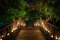 """Here's another photo from that Disney resort in Oahu.  I guess there's nothing about that make it Disney other than it's kinda cool and """"feels"""" right.  It makes me wish all bridges had little lights like this!  - Oahu, Hawaii  - Photo from #treyratcliff Trey Ratcliff at http://www.StuckInCustoms.com"""