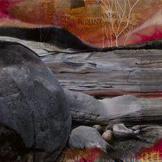 Andreas Oesch, Verzasca 46, Mischtechnik – Foto, Pappmaché, Acryl, 45 x 45 cm, 2012, 570 €, VERKAUFT