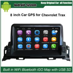 8 inch Android Car GPS Navigation for Chevrolet Trax Car Video Player WiFi Bluetooth Mirror-link Upgraded Original Car Radio