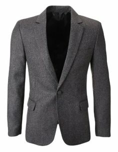 Shop FLATSEVEN Mens Slim Fit Winter Classic Wool Blazer Jacket Boys Free delivery and returns on eligible orders. Celebrity Fashion Outfits, Mens Fashion Blazer, Mens Sport Coat, Casual Blazer, Uk Fashion, Mens Clothing Styles, Men's Clothing, Blazers For Men, Slim Man