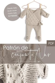 PDF Knitting Pattern to make a beautiful and practical baby knitted set using garter stitch, stockinette stitch and nice Pop Corn stitches. It will be perfect whether you knit it for your baby… Baby Knitting Patterns, Baby Cardigan Knitting Pattern Free, Baby Patterns, Knitting For Kids, Diy Crochet Cardigan, Knitted Baby Cardigan, Baby Outfits, Little Girl Outfits, Baby Leggings Pattern
