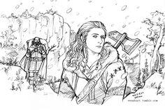 Winter hunting of Dwarves by evankart on deviantart