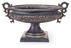 "11"" Floral Urn, Brown on OneKingsLane.com $129"