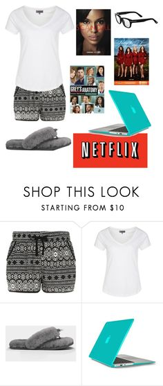 """On Netflix"" by elise-22 ❤ liked on Polyvore featuring Cameo Rose, Zalando, UGG Australia, Grey's Anatomy, Speck and Tom Ford"