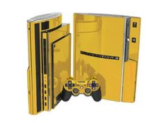 Sony PlayStation 3 Skin (PS3) - NEW - GOLD CHROME MIRROR system skins faceplate decal mod #playstation #controllers #gaming #console
