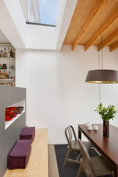 rooflight + material change over dining/living - refurb + extension ex-council house - Kennington, London - Badrashi Loddo