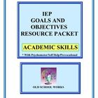 Tired of rewritng IEP goals and objectives?  Looking for a bank of possible IEP content? This resource contains 130 possible combinations of goals and objectives.  Use for lesson planning, IEP writing and in student planning or intervention team meetings.  Customize to fit student needs to Teach Every Child, differentiate your instruction and document growth.