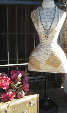 .paper mache dress form