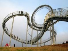 Germany's Roller Coaster Walkway Thrills Visitors with Views to the Surrounding Landscape Verrückte Treppen in Deutschland Take The Stairs, Outdoor Sculpture, Stairway To Heaven, Pedestrian, Germany Travel, Installation Art, Hinata, Places To See, Around The Worlds