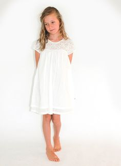Designer girl clothing - Alex & Ant Ice Vovo Lace Dress - Price: $47.95 - Stunning designer girls dress from the Ice Vovo range by Alex & Ant!  This beautiful dress features free flowing bodice and gorgeous lace detail at top - perfect for everything from an outdoor summer tea party to a special occasion dress. Designer girl clothing - Alex & Ant