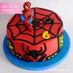 Pastel Spiderman ~ Be Sweet: reposteria creativa