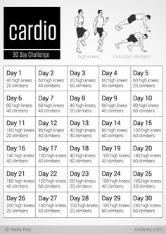 30 Day Cardio Challenge