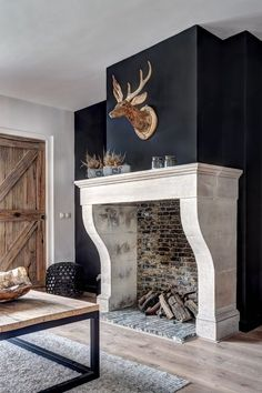 Latest Snap Shots Fireplace Remodel farmhouse Style Very nice hand-carved fireplace of french limestone. We can make this fireplace in any size you wan Wooden Fireplace, Limestone Fireplace, Victorian Fireplace, Concrete Fireplace, Farmhouse Fireplace, Fireplace Hearth, Home Fireplace, Fireplace Remodel, Fireplace Surrounds