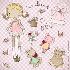 Spring Belle paper doll* by ♥ ribonita ♥ (catching up), via Flickr