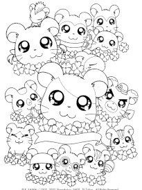 Coloriage De Hamster Cartoon Coloring Pages Cute Coloring Pages