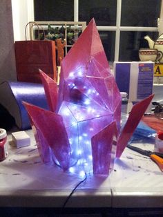 Perfect crystal tutorial, will use for my mage cosplay