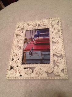 """4"""" x 6"""" White Rose Frame New   eBay"""