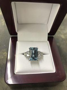 Aquamarine Dress, Dress Rings, Diamond Rings, Jewellery, Engagement Rings, Handmade, Enagement Rings, Jewels, Wedding Rings