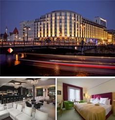 Offering an exclusive Executive club and spacious rooms, this stylish 4-star-superior hotel stands beside the River Spree on Berlin's Friedrichstraße...
