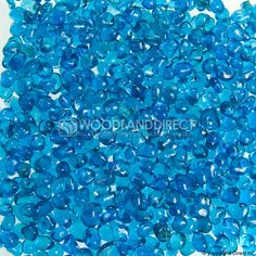 "Krystal Fire - Smooth Fireglass - 1/4"" Aqua Blue 