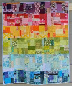 Baby Quilt - using all the scraps