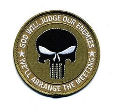 Embroidered Iron On Patch - God Will Judge Our Enemies, W... https://www.amazon.com/dp/B01IFL6P7M/ref=cm_sw_r_pi_dp_x_S8ywyb2PKHYGP  #irononpatch #Motorcyclepatch #embroideredpatch #motorcyclegear #bikergear #bikerpatch