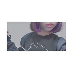 WEBSTA @ m___y___0720 - 👿☂😈💜🔮👾🍆🍇✝☯☔️ #hair #color #purple #violet #インナーカラー #マニパニ