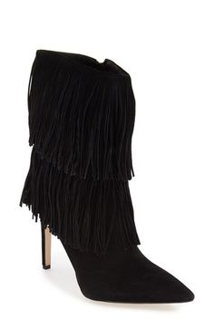 c94dfa9704bed9 Sam Edelman  Belinda  Fringed Suede Pointy Toe Boot (Women)