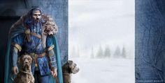 Blue Beard with dogs by laura-csajagi.deviantart.com on @deviantART