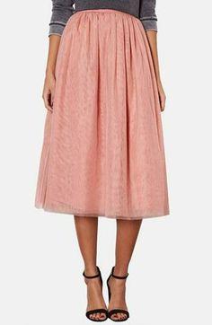 Twirl like a ballerina in a mesh midi skirt.