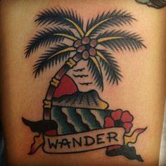 sailor jerry palm tree tattoo - Google Search