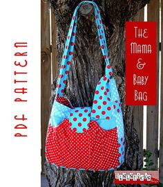 PDF Sewing Pattern:  The Mama & Baby Bag (Instant Download) on Etsy, $9.75
