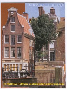CANAL HOUSE original paper collage for framed art or notecard by MaterialWhirlCollage, $5.99