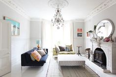 guest blog by sfgirlbybay at frenchbydesign. Loving this eclectic lounge room. Looks so comfy!