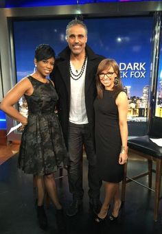 Rick Fox joined Jacque and Sara on New York Live for some fun! #AllBlack #RickFox #NYL